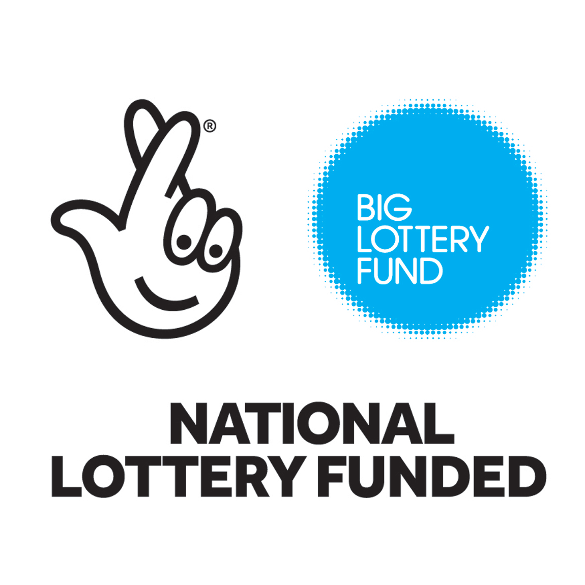 Logo of the Big Lottery Fund, with the words NATIONAL LOTTERY FUNDED below it.